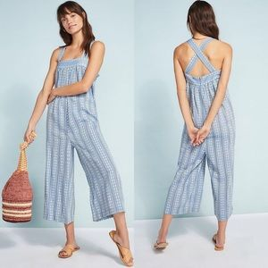 Anthropologie Seafolly Dobby Striped Jumpsuit